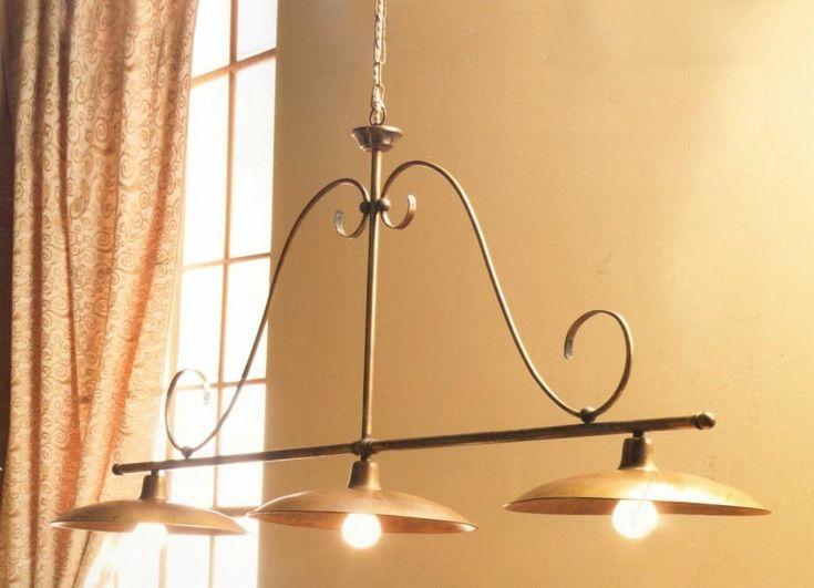 ... plafoniera in metallo e piatti in ceramica lampade rustiche a soffitto