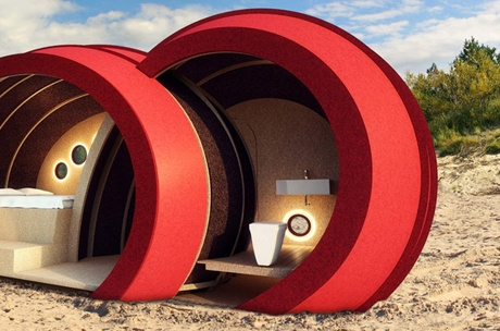Cork gets a make-over!  Gabriele Gomez has fashioned a cylindrical…