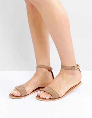 Замшевые сандалии с ремешком на щиколотке Boohoo
