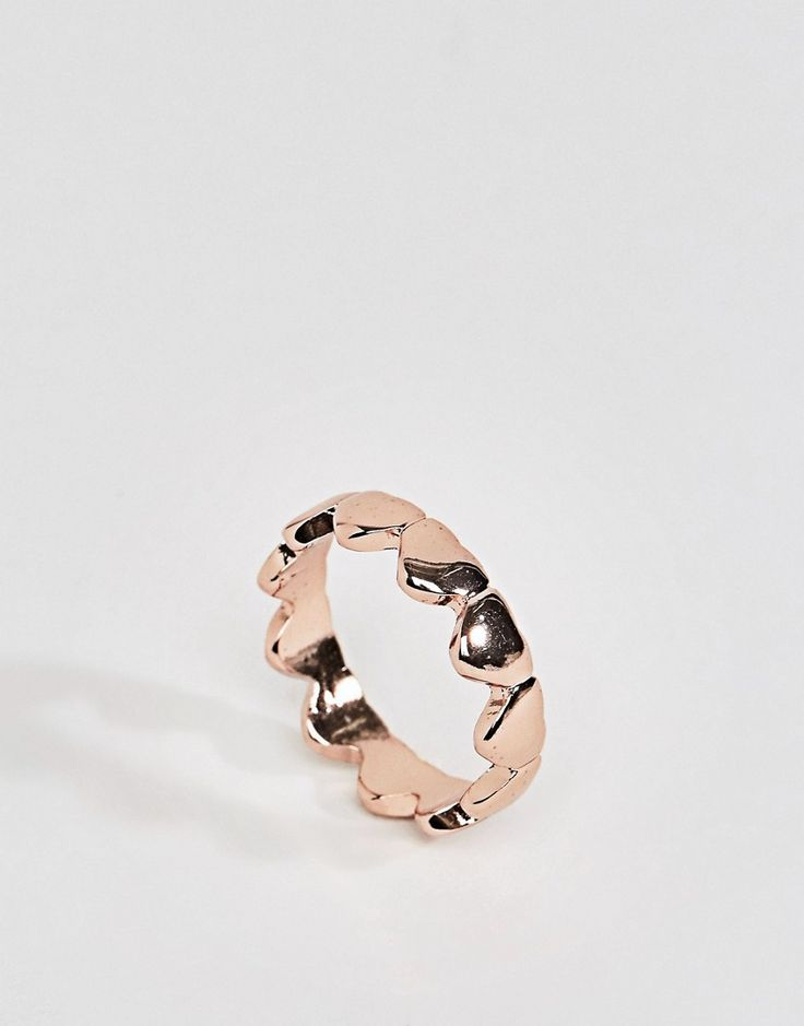 ASOS Heart Ring - Copper