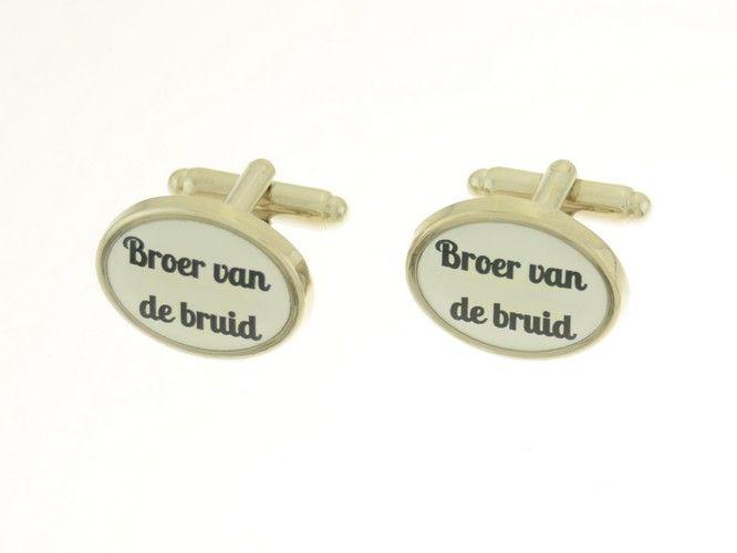 Bruiloft III Broer bruid - Modern Manchetknopen