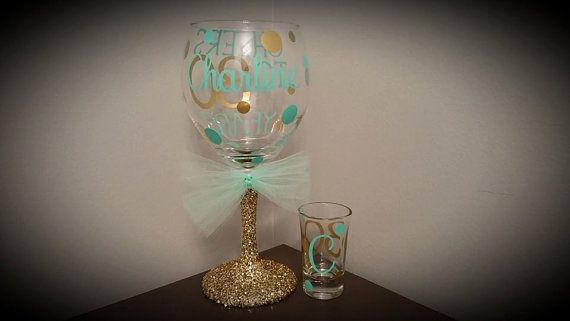 Cheers to 30 Years Personalized Glitter Stemmed by ByJusteenCrafts