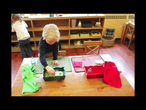 une vidéo qui illustre la journée type d'un enfant en école Montessori; 3 heures de travail en 5mn à visionner.