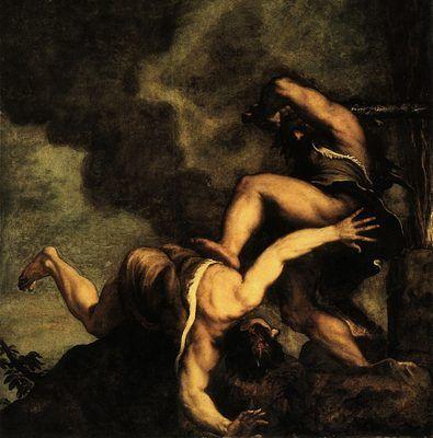 Caïn et Abel, par Titien