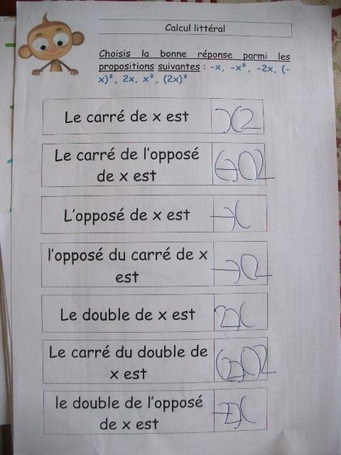 Calcul litteral - Le petit roi, enfant autiste