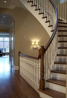 curved staircase under - Google Search
