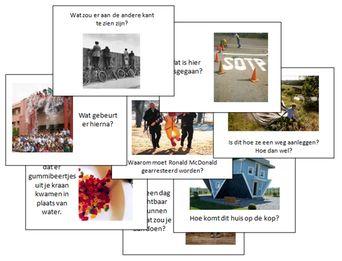 Bij het geven van opdrachten voor creatief schrijven, gebruik ik graag foto's om de kinderen aan het denken te zetten. Ik heb er dertig verzameld en in een presentatie gezet.