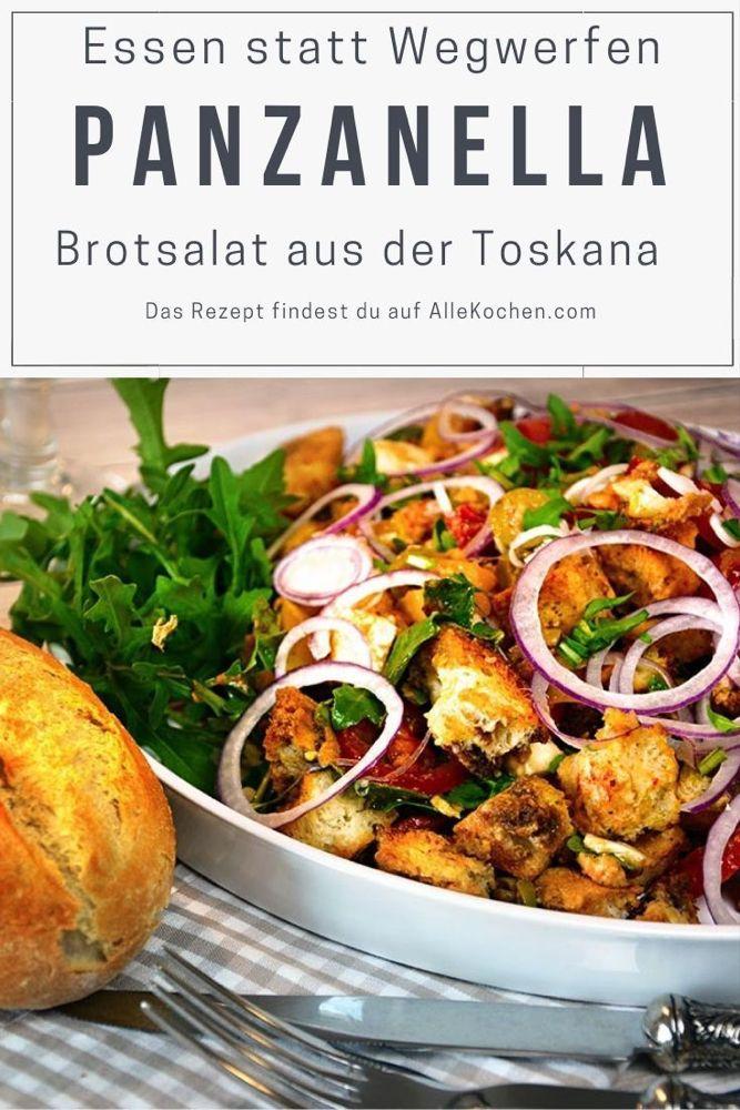 Toskanischer Brotsalat Panzanella – Vermeiden Sie Speisereste   – Recipes