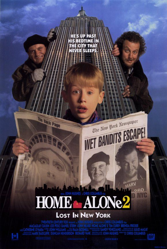 Home Alone 2... I prefer this one as I used to own it on VHS and I think it's more overtly Christmas-y