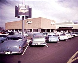 Southdale Center, in suburban Minneapolis. Opened in 1956, this was the first enclosed shopping mall in America.