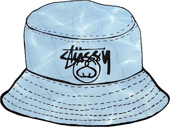 aqua stussy bucket hat