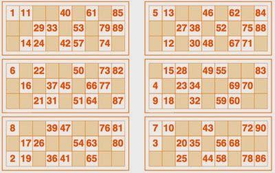 Cartelas de Bingo para imprimir - Toda Atual                              …