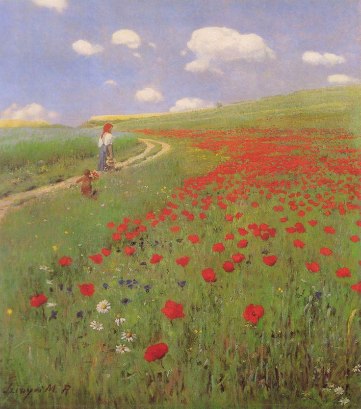 Pál Szinyei Merse | A Field of Poppies