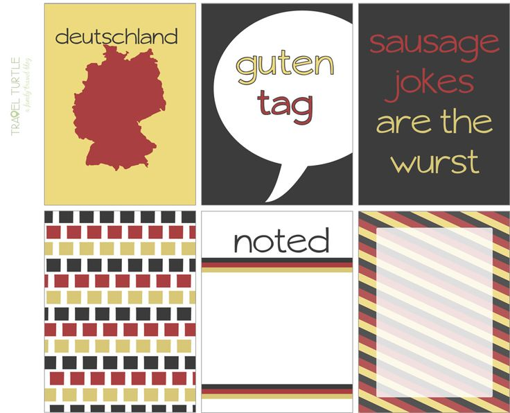 Germany Project Life Free printables