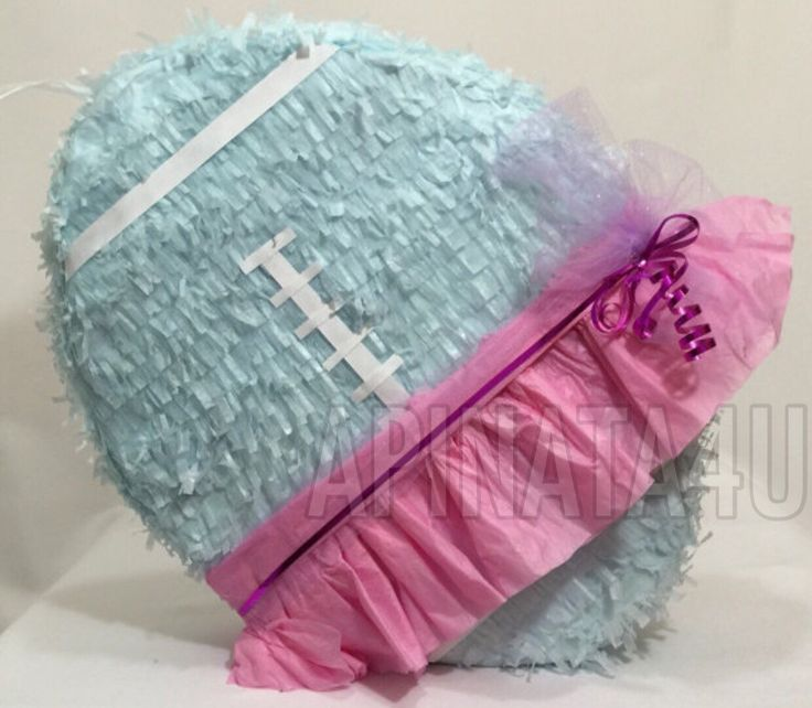 Gender Reveal Football & Tutu Pull Strings or Traditional Pinata by Theperfectpinata on Etsy https://www.etsy.com/listing/247410187/gender-reveal-football-tutu-pull-strings