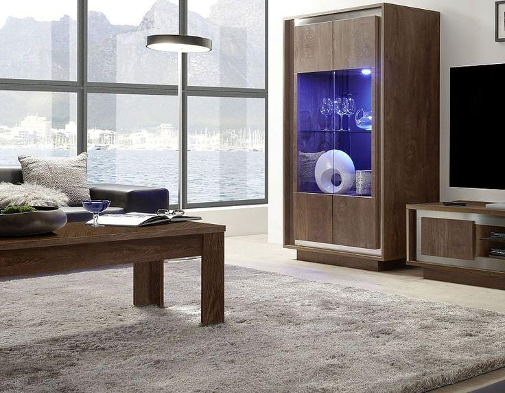 Table basse contemporaine couleur chêne MICHIGAN