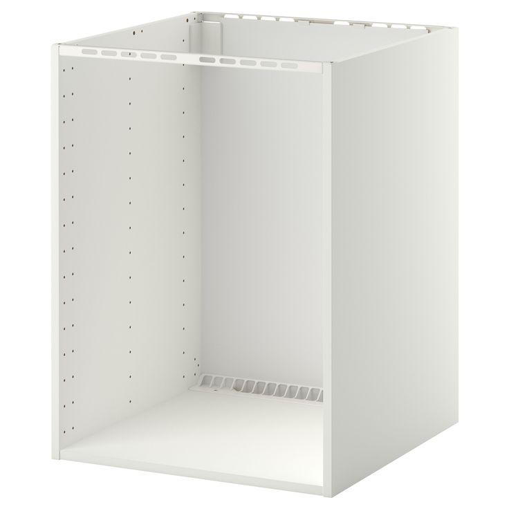 METOD Élément bas pr four/évier encastré - blanc, 60x60x80 cm - IKEA