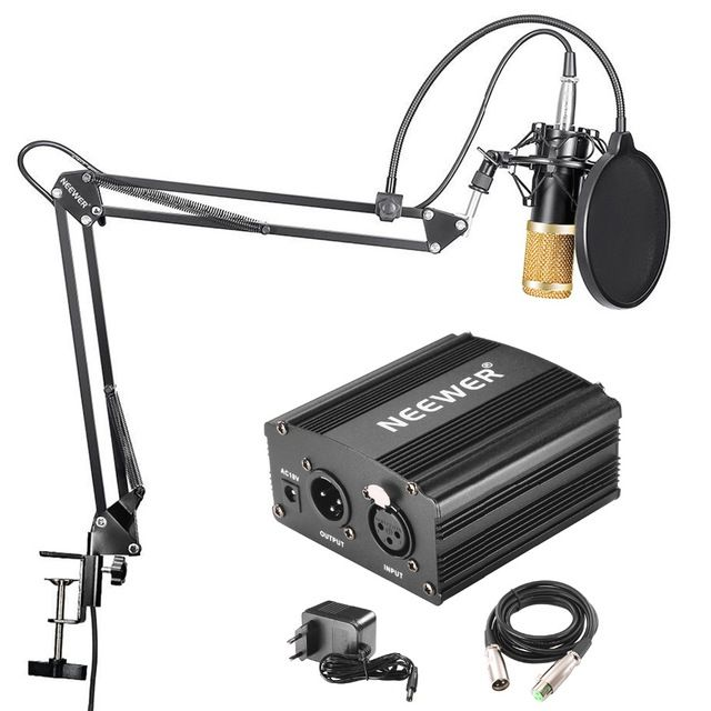 Neewer Nw 800 Professional Condenser Microphone Microphone Cable Phantom Power