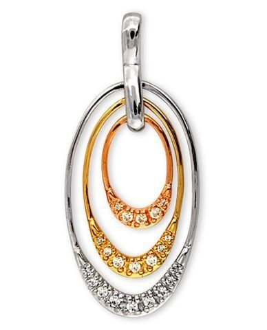 ClassicDiamondHouse Oval Yellow Rose White Gold Plated C.Z. Diamond Pendant - Incl. ClassicDiamondHouse Free Gift Box & Cleaning Cloth ClassicDiamondHouse. $43.00. Wow!Packed in a Beautiful Engraved box And Free Cloth