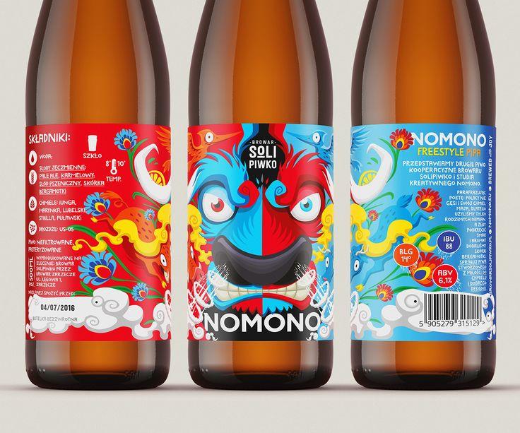 NOMONO Freestyle Polish IPA Label design