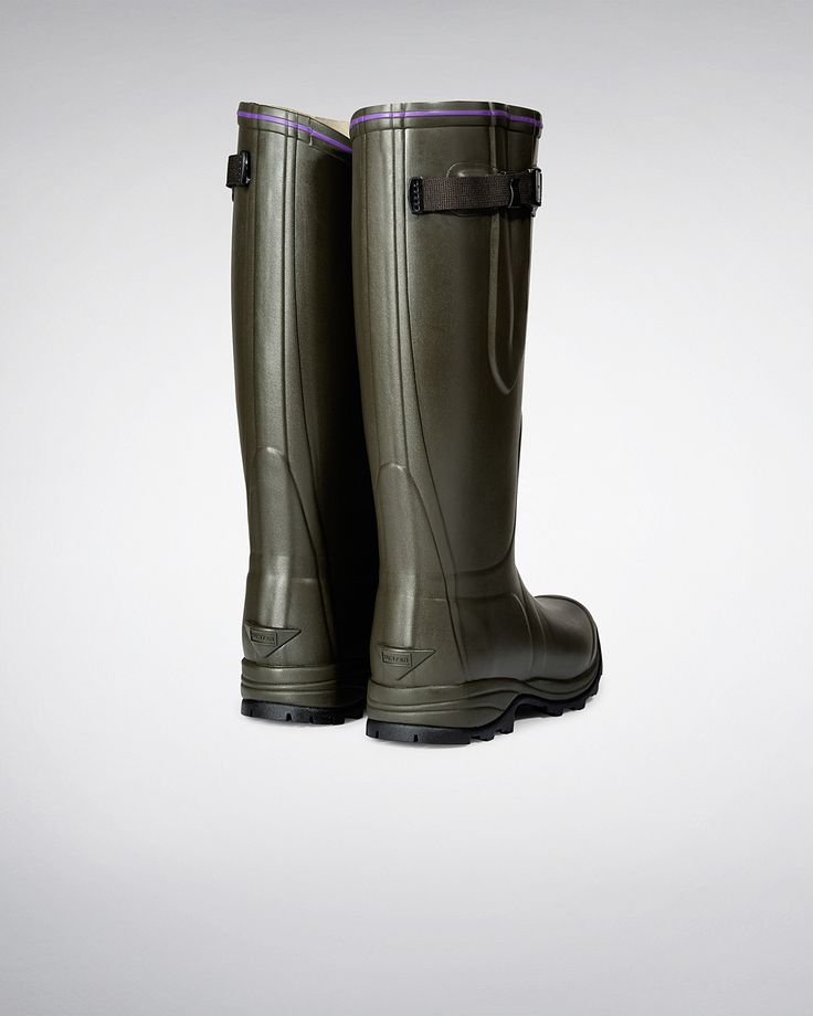 Womens Green Balmoral Lady Neoprene Wellies   Official Hunter Boots Site