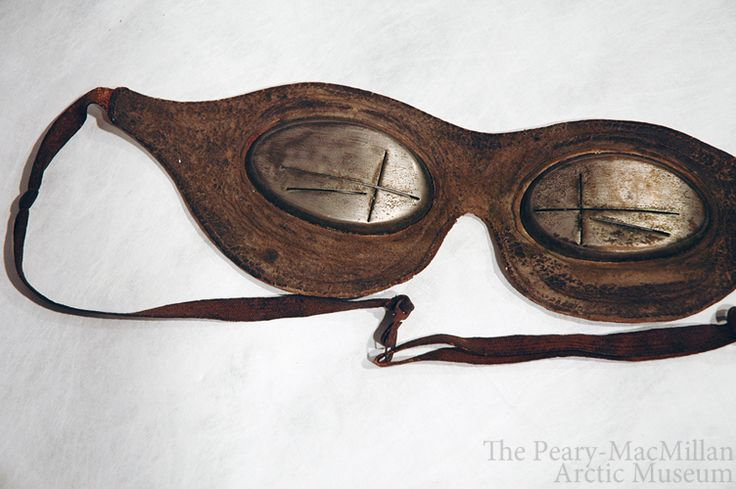 Snow goggles helped Arctic explorers see in blinding light.