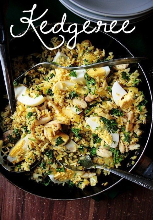 Savoury and fast kedgeree