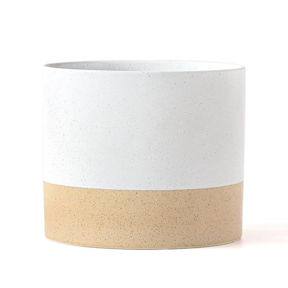 10 Inch Indoor Ceramic Planter Large White Planter Pot Etsy In 2020 Indoor Ceramic Planters Large Ceramic Planters White Planters Pots