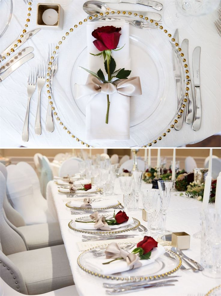 If you are planning a Beauty & the Beast style wedding day or you simply love classic and romantic ideas then this place setting at Sheene Mill will be exactly to your taste.