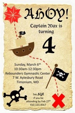 treasure map invite