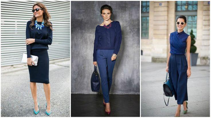 Синий цвет в женской и мужской одежде, значение цвета в психологии, стильные сочетания синего с голубым, коричневым, серым, зеленым, красным, желтым и другими цветами