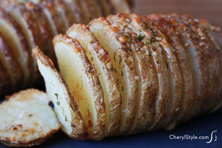 Easy armadillo potatoes baked with herbs and seasonings   CherylStyle.com