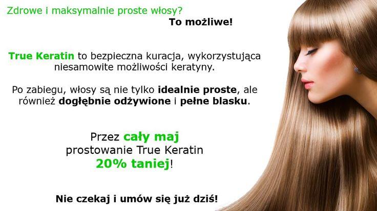 Promocja maj'15 - 20% zniżki na prostowanie włosów True Keratin. Czytaj więcej: http://salonbella.rzeszow.pl/salon_fryzjerski_rzeszow/prostowanie-keratynowe/. #promocja #maj #prostowaniekeratynowe #włosy #hair