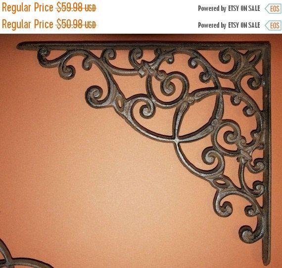 vintagelook cast iron shelf brackets victorian shelf bracket 13 inch