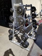 Intek 20-110 Bars and Life Fitness Signature Rack . Commercial Gym Equipment