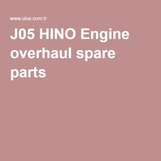 J05 HINO Engine overhaul spare parts
