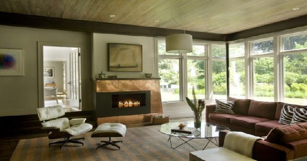Cottage-Inspired Living Room with Linen and Copper