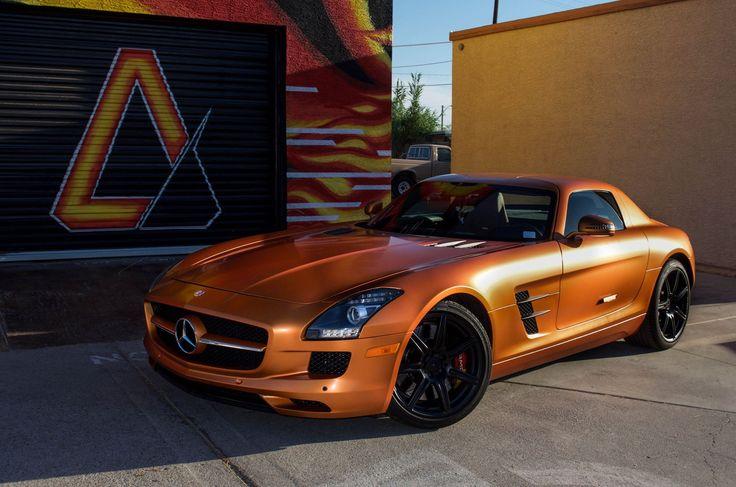 Mercedes SLS AMG 3M Satin Canyon Copper Orange Matte Black ...