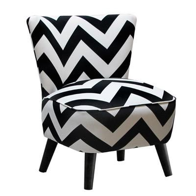 Skyline furniture chaise de style moderne en tissu for Chaise zig zag