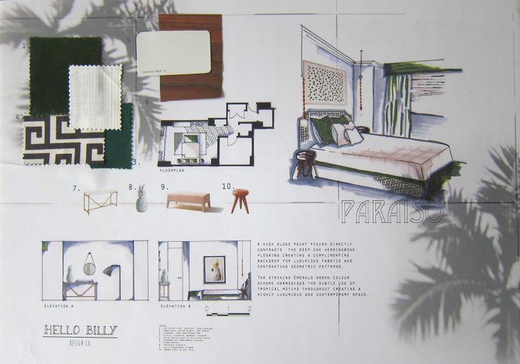 The Penthouse Bedroom - Presentation Board