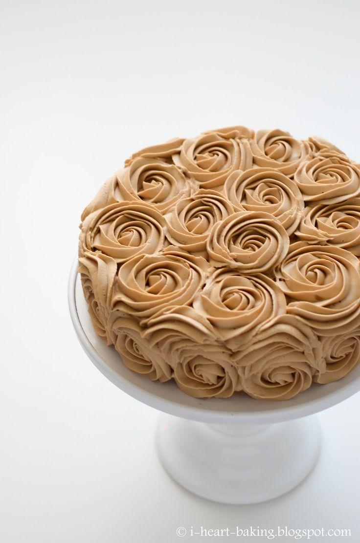 coffee chiffon rose cake