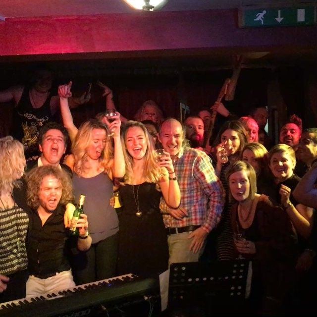 Our live selfie shout out last Saturday at The Green Note Camden - room so dark plan B came into play - all that could fit on, invaded stage and here they are - Nikki and the boys buried! Tonight's selfie shout out is in Oxfordshire - Music at The Northcourt at Abingdon FC. Tickets available on the door. Come and join us for tonight's selfie - who knows what will happen but it will be a fun photo for sure