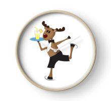 Reindeer boy Clock