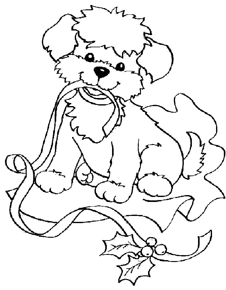 lisa frank holiday puppy coloring page - Coloring Or Colouring
