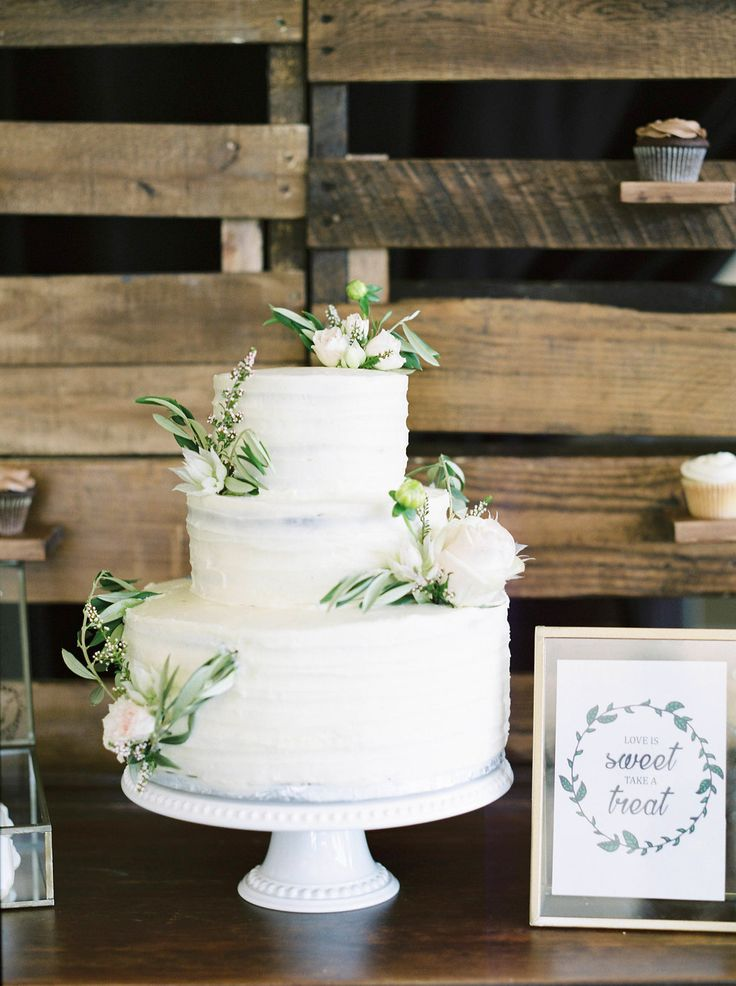 Garden Party Wedding Cake