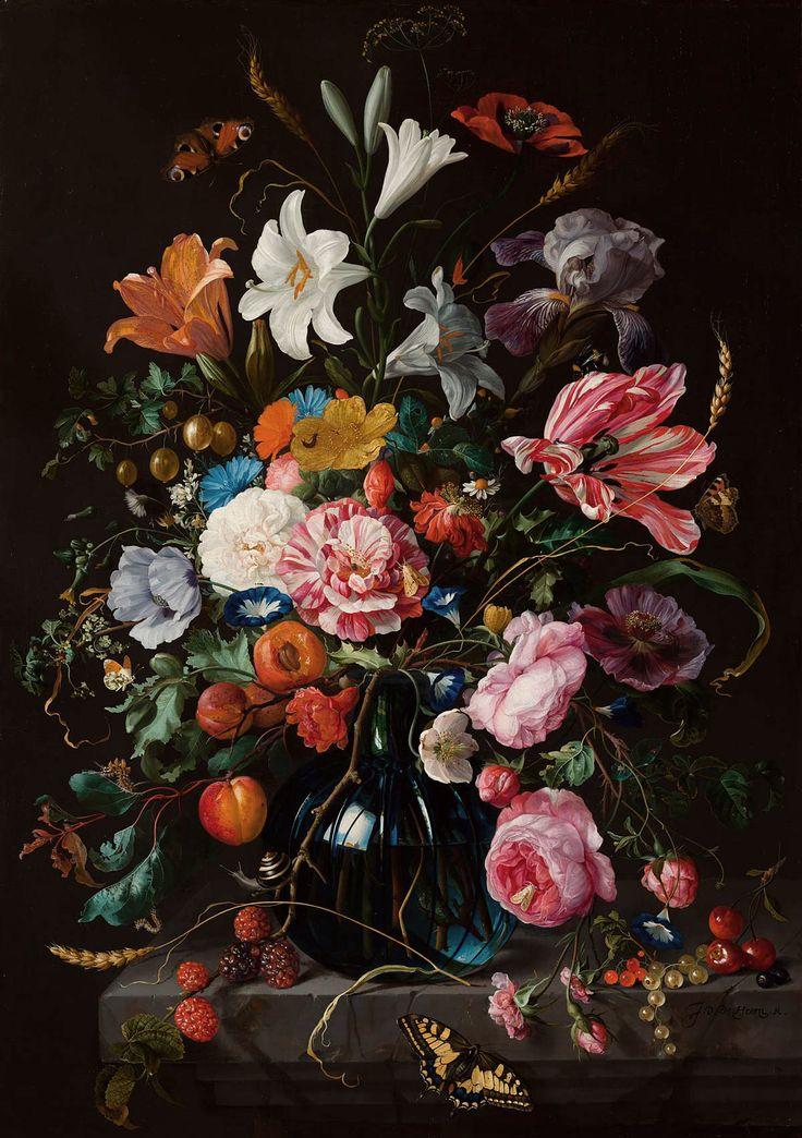 Vaas met bloemen III te bestellen op canvas