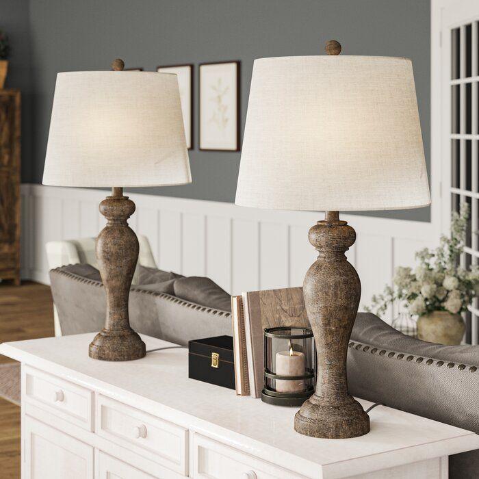 Gracie Oaks Anissa 32 Table Lamp Set Reviews Wayfair In 2020 Table Lamps Living Room Farmhouse Table Lamps Lamps Living Room
