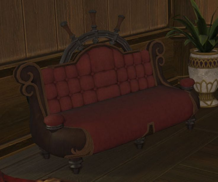 Riviera Couch: A Padded Couch Designed In The Riviera Style. | Level: 44