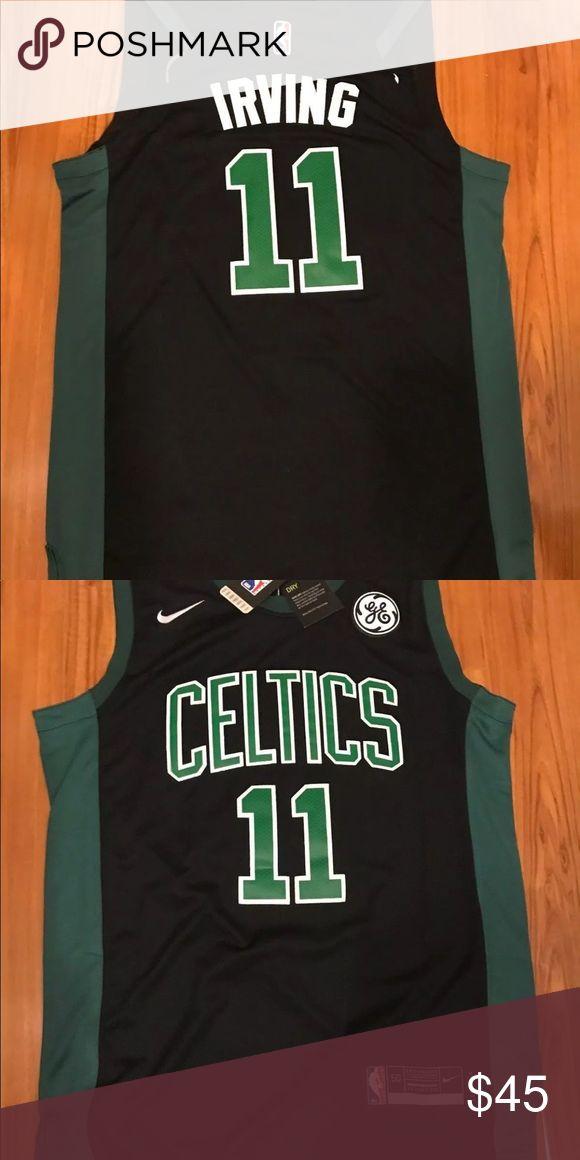 NWT Kyrie Irving Black Boston Celtics Jersey L 2017 // 2018  Brand New w Tags  Kyrie Irving #11  Black Boston Celtics  Men's Size Large Nike Shirts Tees - Short Sleeve