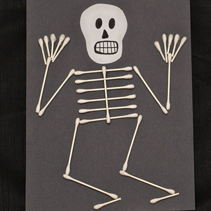 1000 ideas about skeleton craft on pinterest halloween for Q tip skeleton craft template